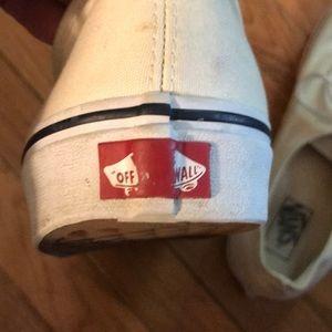 Vans Shoes - Vans Authentic Cream/White/Black Size 12